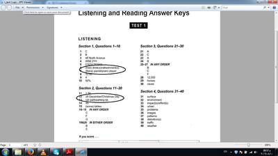 cambridge 11 listening test 1 answer key